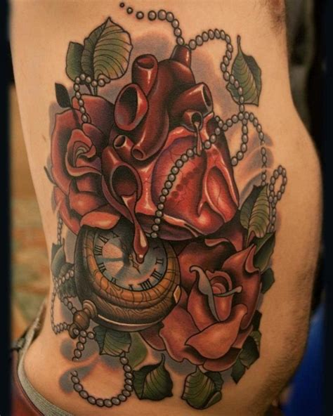 neo traditional tattoo designs and clock neo traditional tattoos