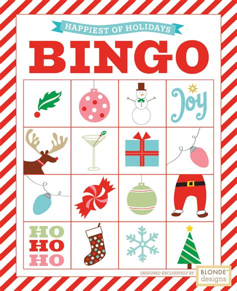printable christmas bingo games free printable holiday bingo blonde designs blog