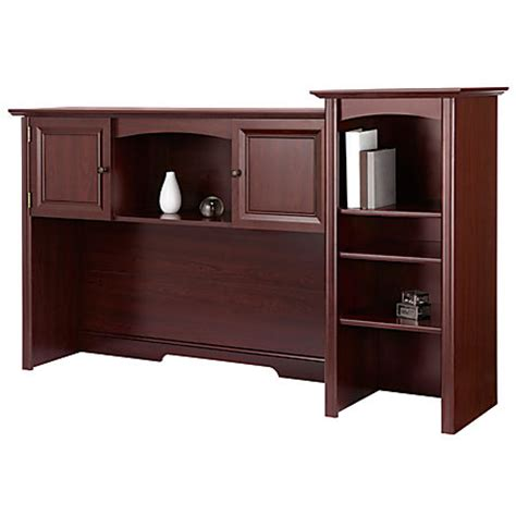 Realspace Broadstreet Hutch With Doors Cherry By Office Office Depot Desk With Hutch
