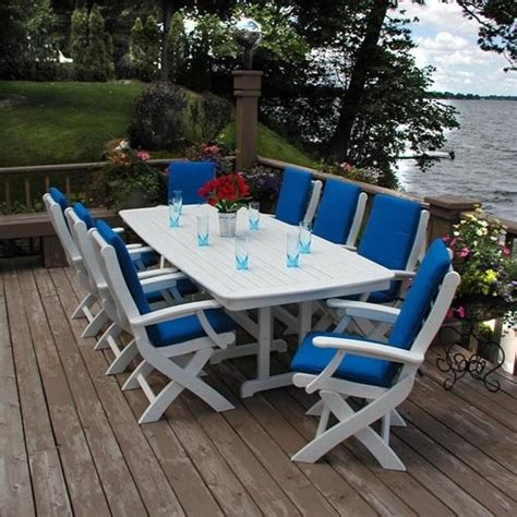 patio furniture recycled plastic polywood 174 recycled plastic signature dining table