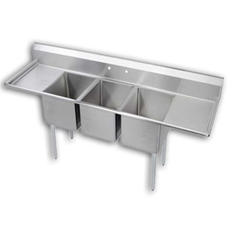 3 compartment sink price 3 compartment sink 18 quot dual drainboards