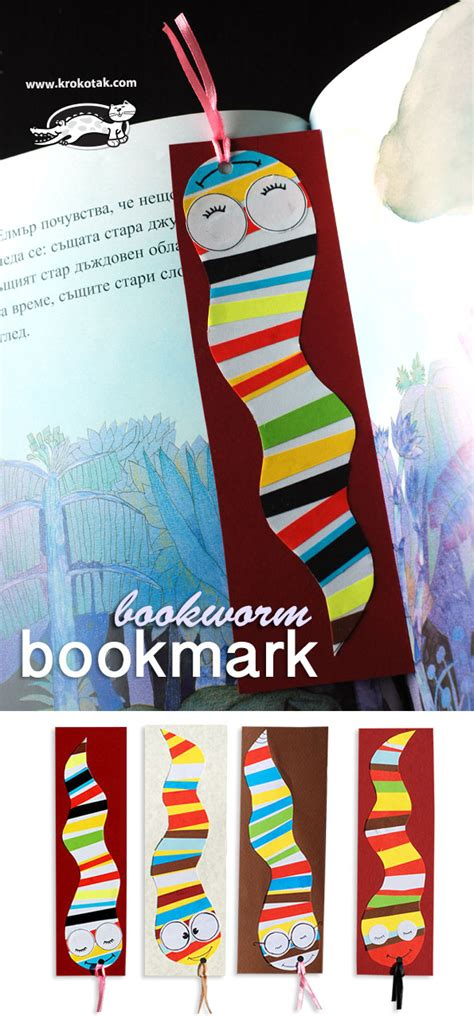 bookworm bookmark template krokotak bookworm bookmark