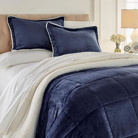 cozy soft brand comforters soft cozy plush sherpa comforter set 8385966 hsn