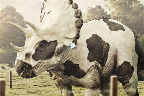 the cow patterned triceratops scene360