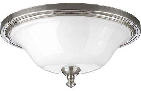 Traditional Bathroom Ceiling Lights Delta Bath Match 11 1 4 Quot Flush Mount Traditional Flush Ceiling Lights By Lclick