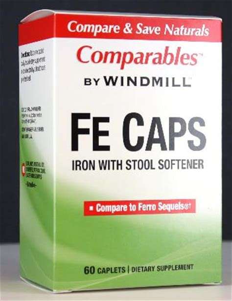 Iron With Stool Softener 150mg by Fe Caps With Stool Softener Windmill Vitamins