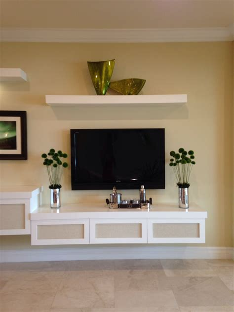 Floating tv stand   Home Ideas   Pinterest   Floating tv