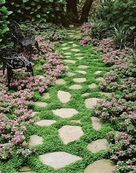 backyard ground cover ideas 43 awesome garden stone paths digsdigs