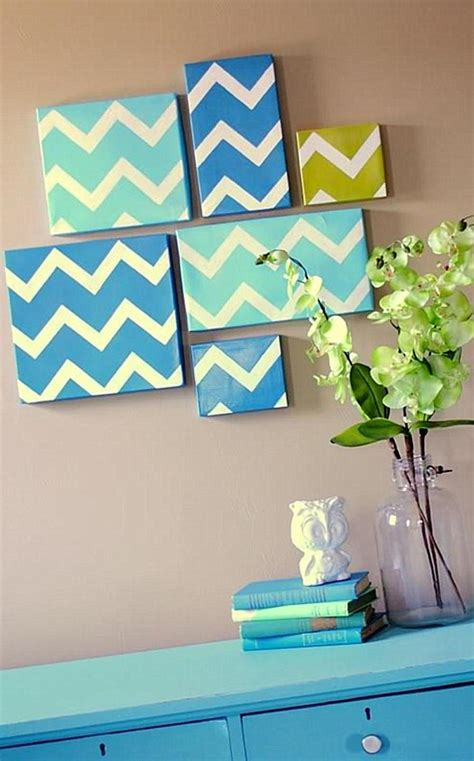 wall decor at home diy modern chevron art home decor wall art ideas olpos