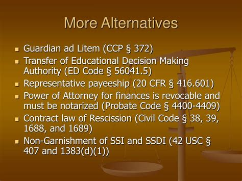 civil code section 1950 5 e ppt conservatorships and alternatives powerpoint