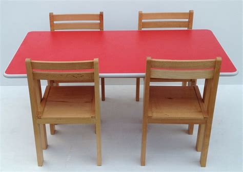 Childrens Wood Table And Chairs - wooden stacking preschool classroom playgroup table