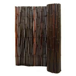 home depot bamboo fencing backyard x scapes 1 in d x 6 ft h x 8 ft l stained