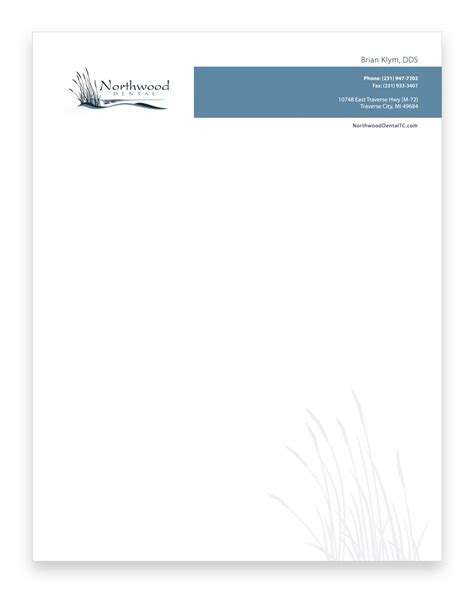 tooth stationery template northwood cosmetic dental