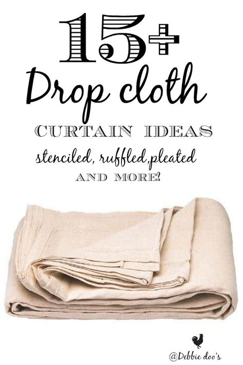 drop cloth curtain ideas 15 drop cloth curtain ideas debbiedoos