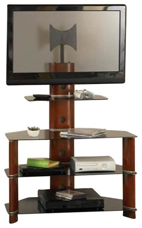Bedroom Height Tv Stand | bush segments wood bedroom height tv stand in rosebud