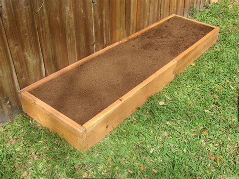 cedar raised garden bed tool  setup