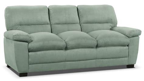 peyton sofa peyton microsuede sofa blue mist the brick