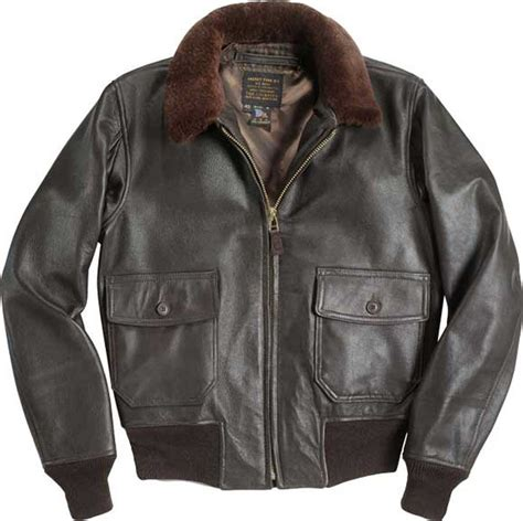 USN G1 Leather Flight Jacket   Men's Goatskin Leather Jacket