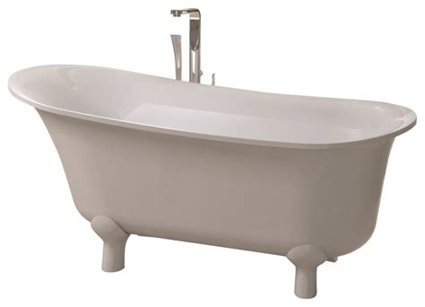 adm white stand alone resin bathtub