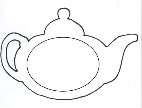 Teapot Card Template by Teapot Coloring Page Clipart Best