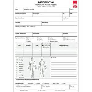 Patient Report Form Template by Workplace Patient Report A5 Pad 10 Forms St