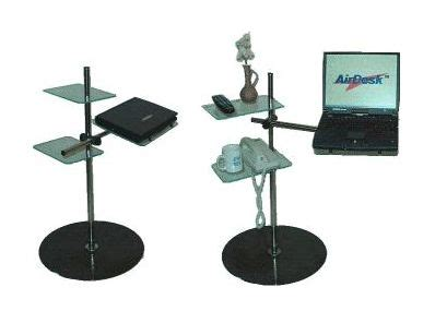 air desk laptop stand lying on the reclined computing with your laptop