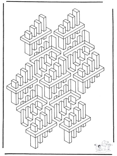 Geometric shapes 3 - Art coloring pages