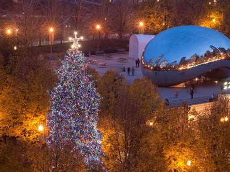 chicago christmas tree lighting ceremony when to see it