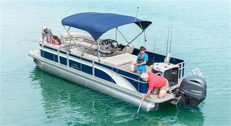 brands of fishing pontoon boats sx25 premium cruise fishing pontoon boats by bennington