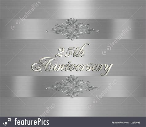 Illustration Of Silver Wedding Anniversary Invitation 25 Years