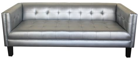 Rox Sofa Metallic Silver Leather Designer8 Silver Leather Sofa