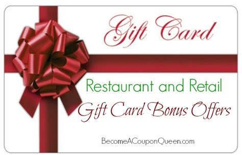 Gift Card Bonus 2014 - restaurant and retail gift card bonus offers
