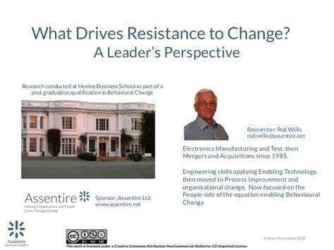 what are resistors to change resistance to change a leaders perspective webinar oct 2013 2