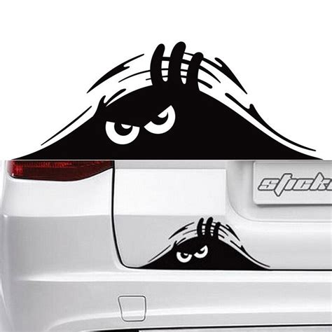 Cars Sticker Decals by New Reflective Waterproof Fashion Peeking