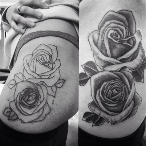large rose tattoo designs my big on hip thigh about 2