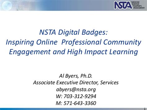 Learning And Performance Consultant At Sheryl Waxler Ph D Mba by Nsta Digital Badges Inspiring Professional
