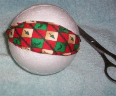fabric covered styrofoam ornament christmas pinterest