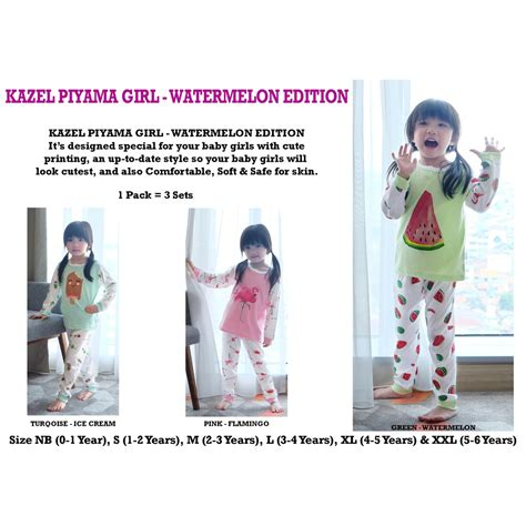 Piyama Kazel kazel piyama watermelon edition shopee indonesia