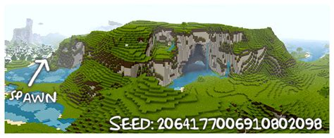 cave mountain minecraft seed 1 12w05 hollow mountain big cave with exposed dungeon