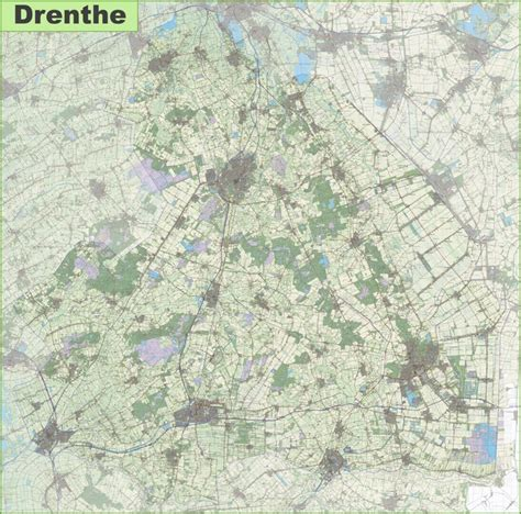 netherlands map assen large detailed topographic map of drenthe