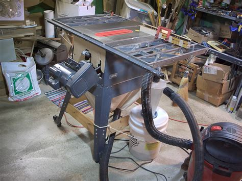 diy table saw dust collector slightly ot table saws and diy dust collection