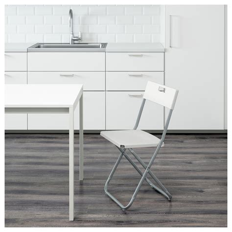 ikea gunde gunde folding chair white ikea