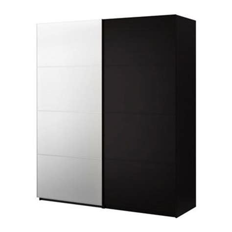 Pax Malm Wardrobe by Pax Wardrobe With Sliding Doors Pax Malm Black Brown