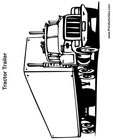 Free Outline Of A Tractor Coloring Pages Tractor Trailer Coloring Pictures