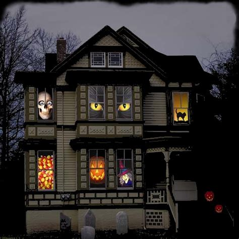 haunted house window 10 extravagant ways to decorate for halloween