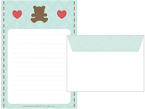 printable writing paper sets quilt teddy writing paper set mr printables