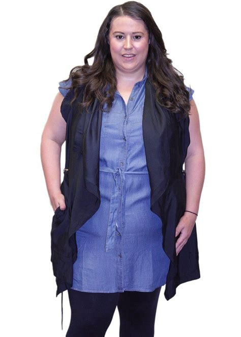 Vest Kombinasi dex plus vest plus size clothing drawstring waist size clothing and patches