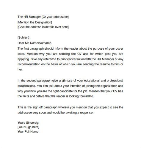 Resume Cover Letter Heading Resume Cover Letter 13 Sles Exles Formats