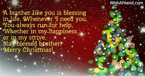 christmas messages  brother