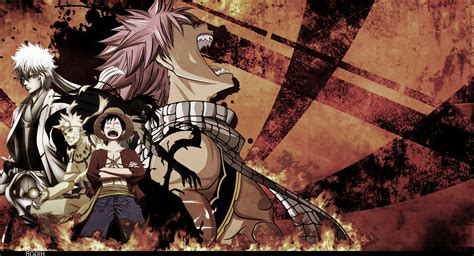 Anime One by Anime One Dragneel Natsu Kurosaki Ichigo